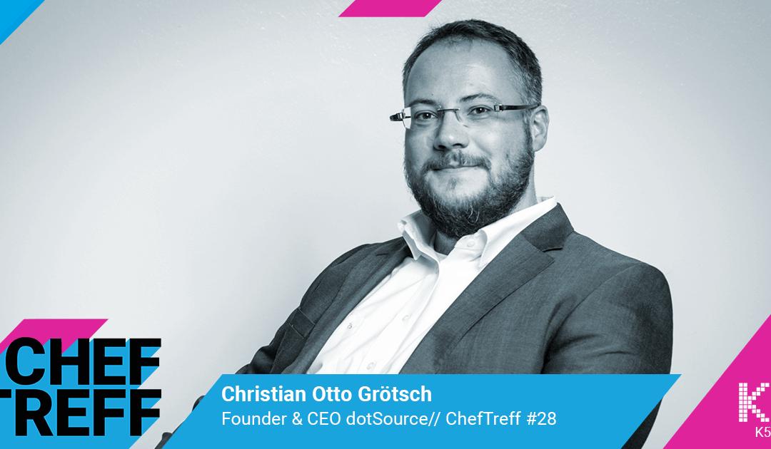 """""""Wir verkaufen kein Shopsystem sondern die Zeit unserer Mitarbeiter!""""- Christian Grötsch, dotSource"""