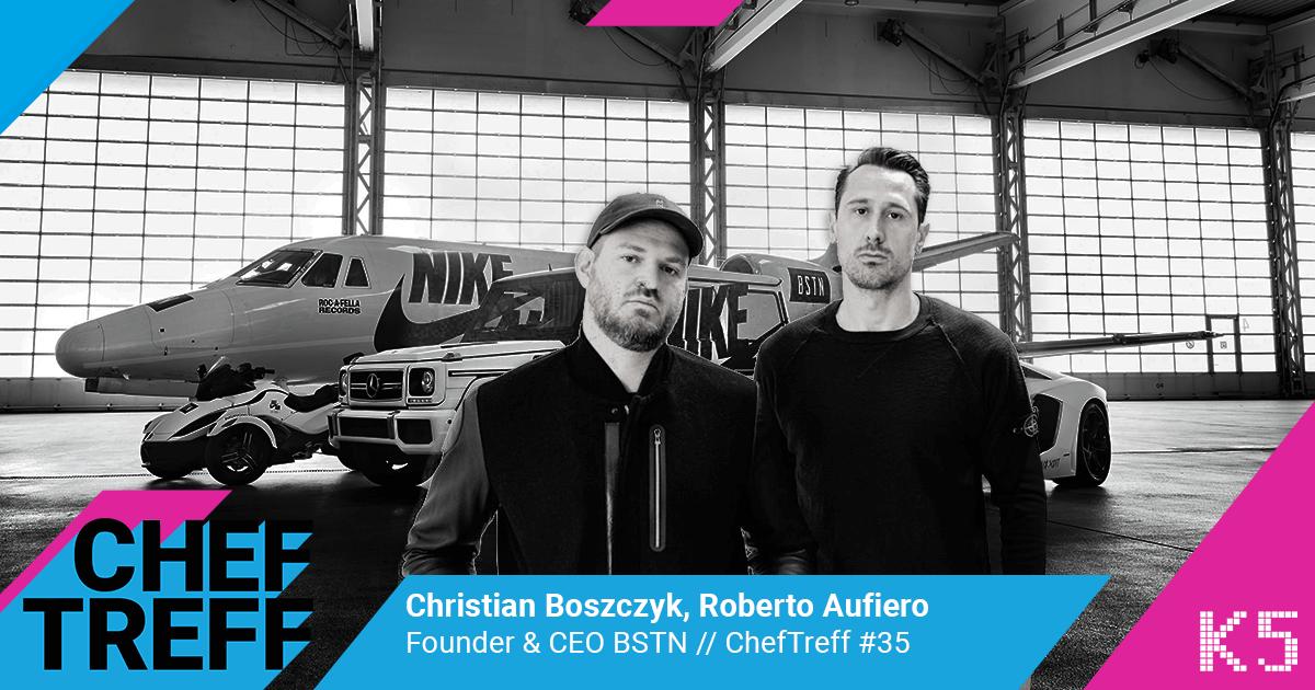 Christian Boszczyk, Roberto Aufiero, Founder & CEO BSTN im ChefTreff Podcast mit Sven Rittau
