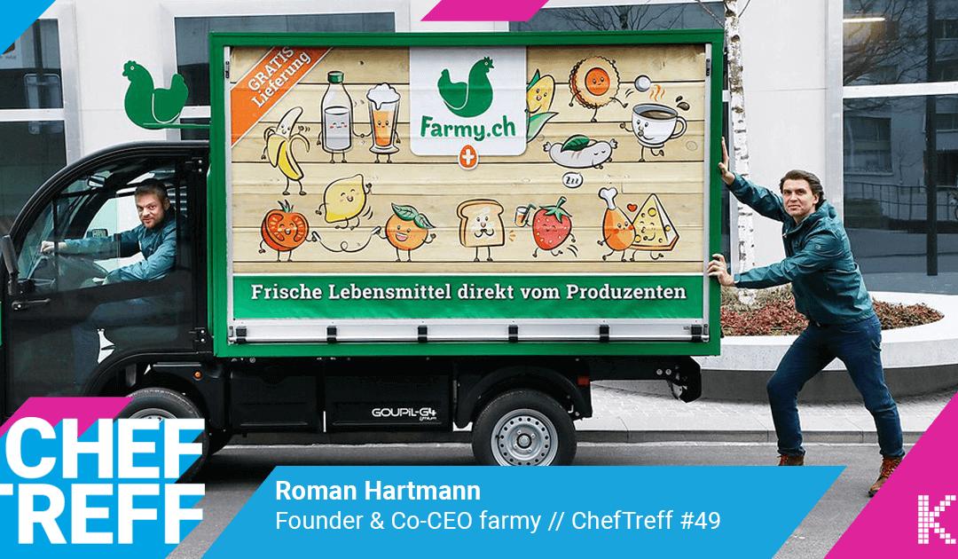 Wie farmy.ch den Schweizer Lebensmittelhandel aufmischt! – Roman Hartmann