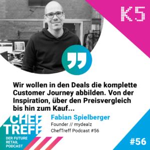 Wir wollen in den Deals die komplette Customer Journeyabbilden. Von der Inspiration, über den Preisvergleich bis hin zum Kauf... Fabian Spielberger, mydealz