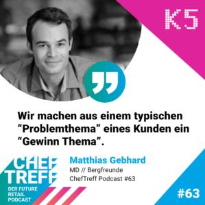 """Wir machen aus einem typischen """"Problemthema"""" eines Kunden ein """"Gewinn Thema"""". Matthias Gebhard, Bergfreunde"""