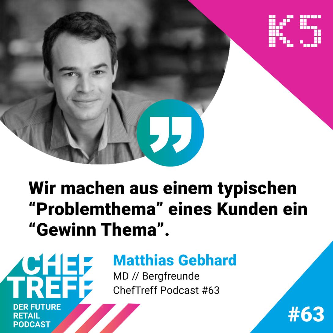 Matthias Gebhard von Bergfreunde über Gewinn Themen im Customer Service