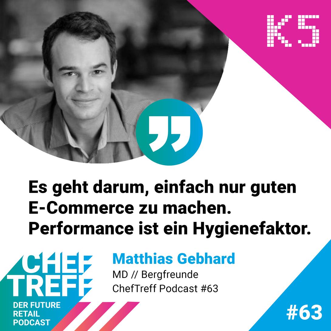Matthias Gebhard von Bergfreunde über Performance im E-Commerce