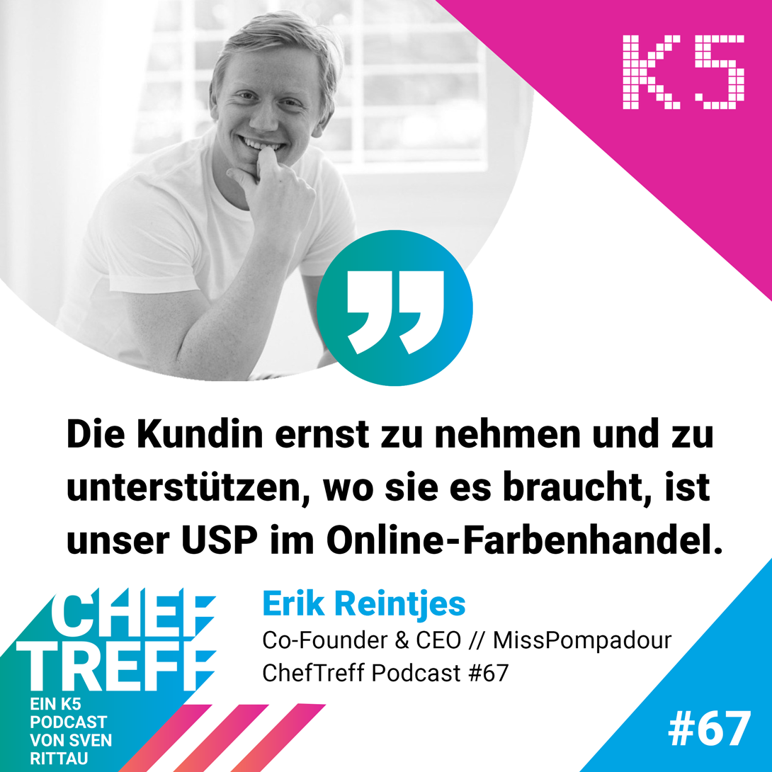 Erik Reintjes, Co-Founder & CEO MissPompadour, über Customer Centricity in der DIY-Branche