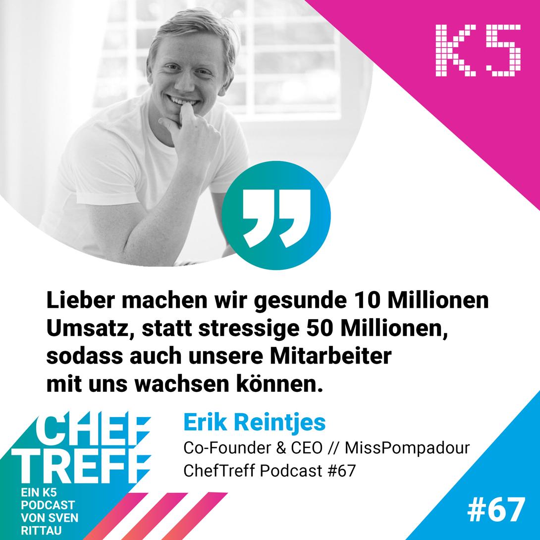 Erik Reintjes, Co-Founder & CEO MissPompadour, über Investoren für das junge Start-up