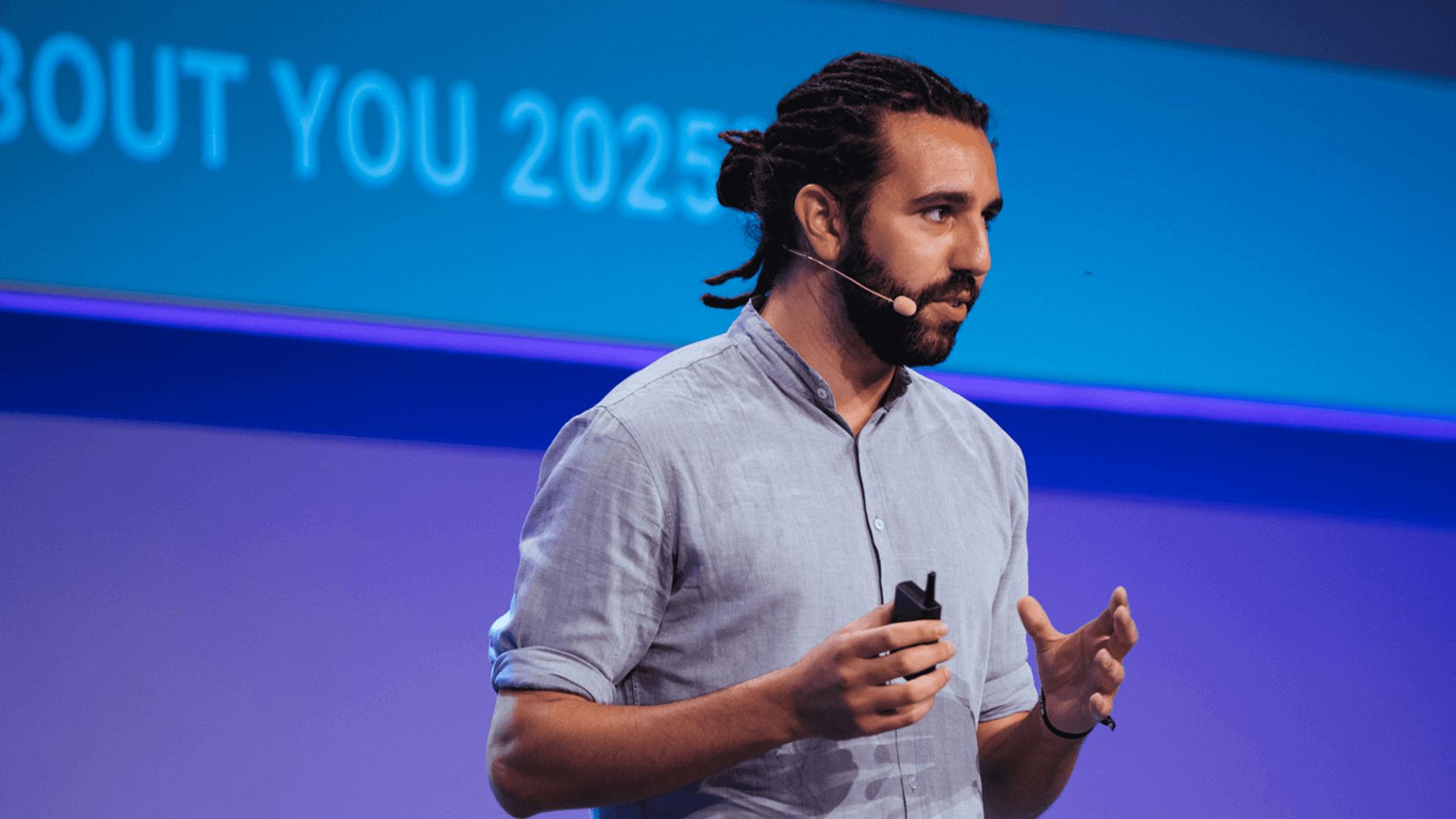 Tarek Müller von About You als Speaker auf der K5 Konferenz
