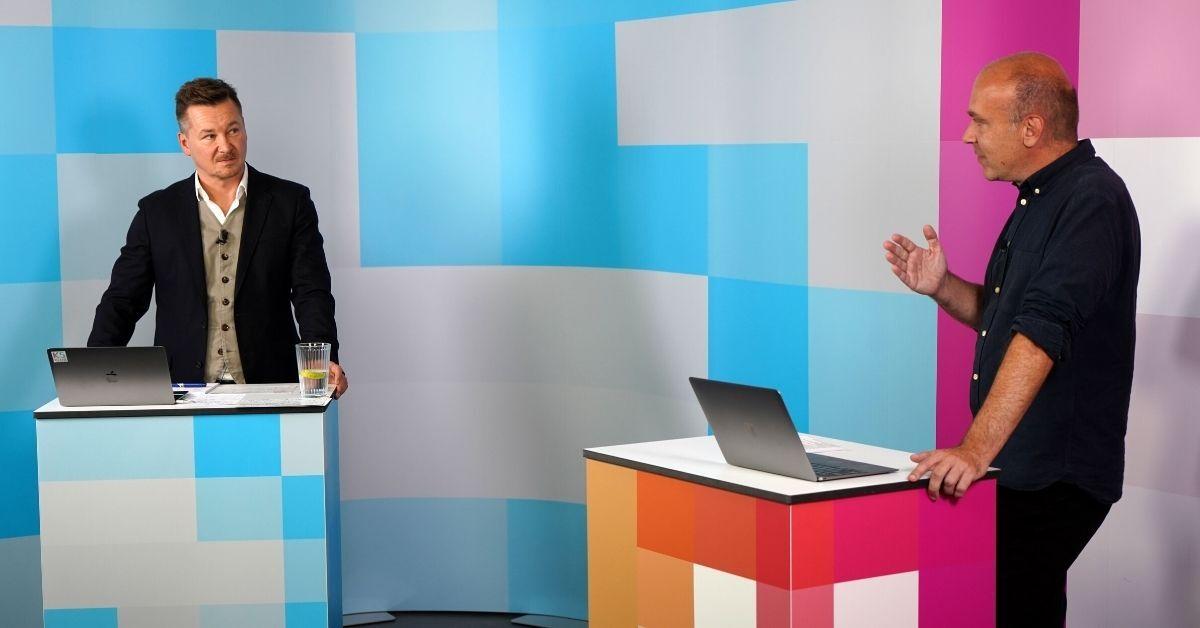 Sven Rittau und Jochen Krisch im K5 TV Studio