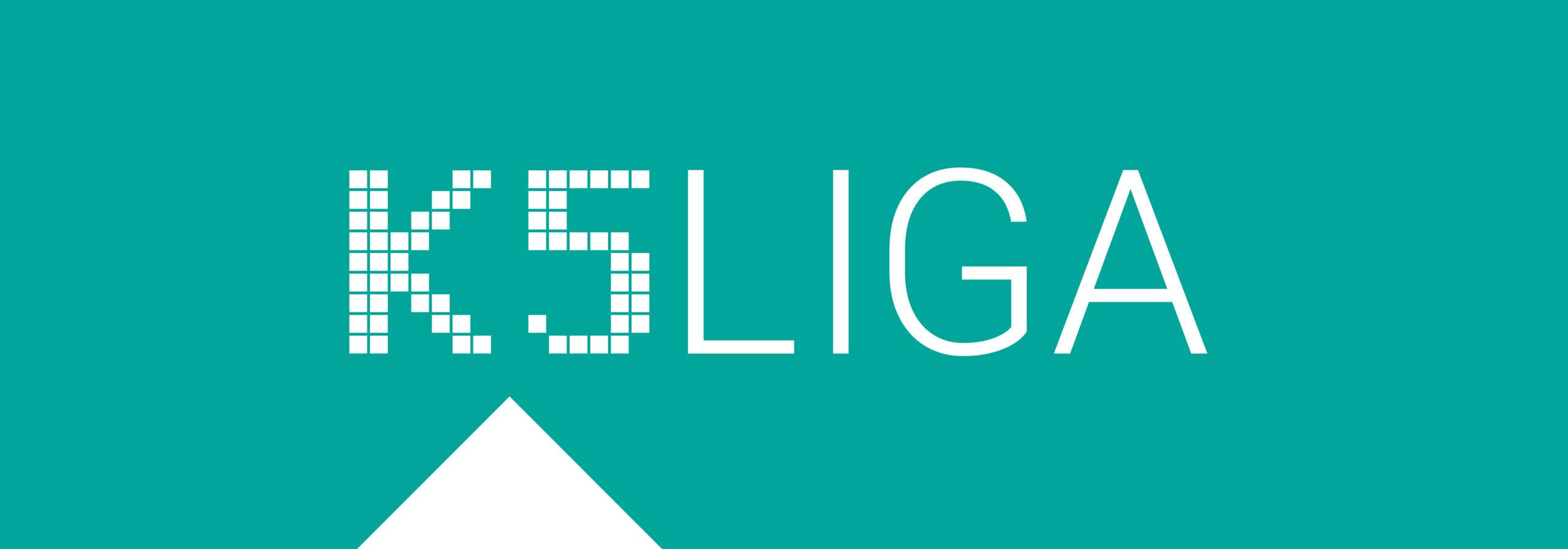 K5 LIGA Logo auf grünem Grund