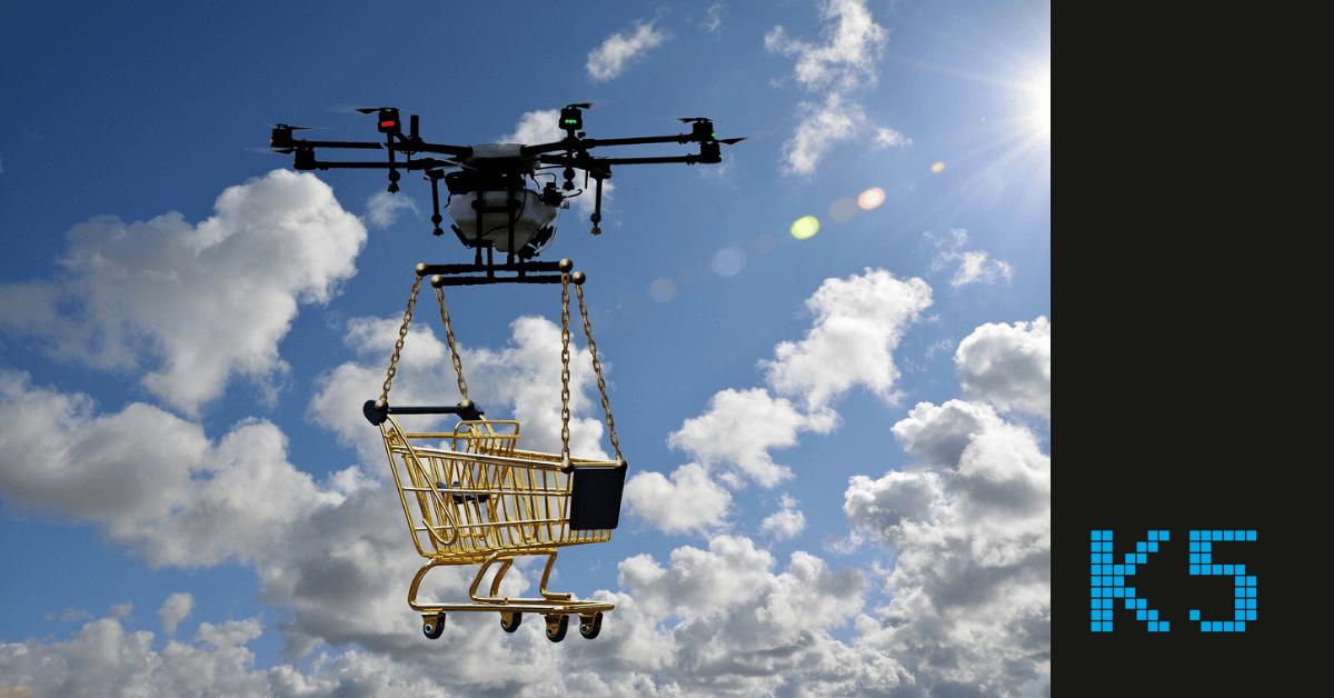 Drohne liefert Einkauf