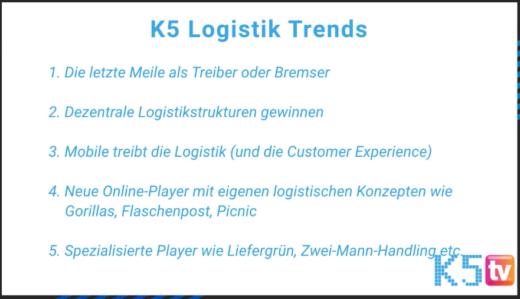 Logistik Trends