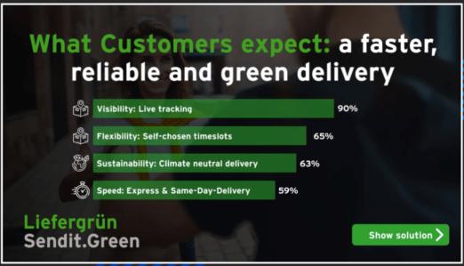 Kunden erwarten eine schneller, flexible und nachhaltige Lieferung