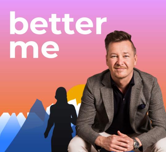 Aufmacherbild für den Podcast better me. Interview mit Sven Rittau