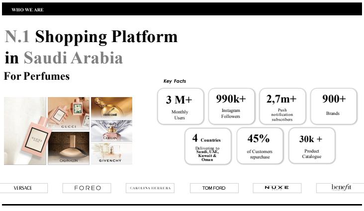 EIn Screenshot von Der Beauty und Parfum Plattform Golden Scent. Ein E-Commerce Unternehmen in Saudi Arabien.