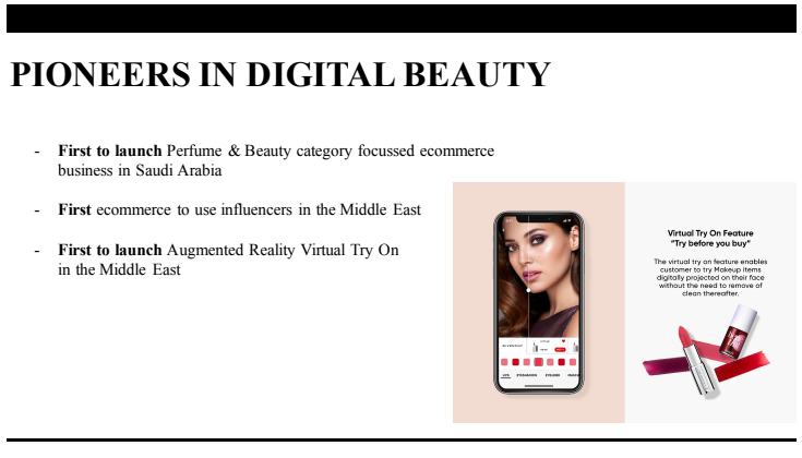 EIn Screenshot von der Beauty und Kosmetik Plattform Golden Scent. Ein E-Commerce Unternehmen in Saudi Arabien